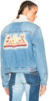 Etoile Isabel Marant Camden Denim Jacket in Blue.