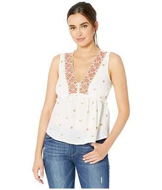 Lucky Brand Sleeveless Romantic Top (Lucky White) Women's Clothing