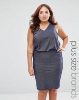 Junarose Plus Hyde Dress In Glitter Fabric