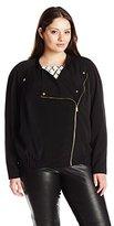 Calvin Klein Women's Plus-Size Soft Moto Jacket
