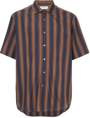 Cerruti short sleeve striped shirt
