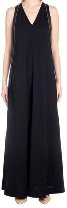 Brunello Cucinelli Side Band Sleeveless Maxi Dress