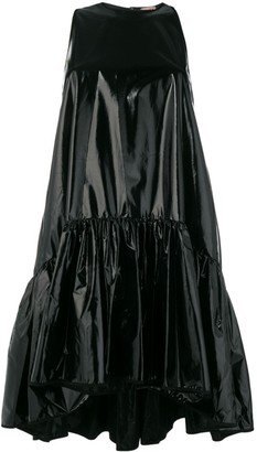 No.21 Shiny Tiered Mini Dress