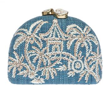 Rafe Ariella Chinoiserie Half Moon Clutch Bag