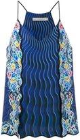 Mary Katrantzou Rainbow Cloud printed cami top - women - Silk/Polyester/Triacetate - 12