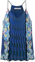 Mary Katrantzou Rainbow Cloud printed cami top - women - Silk/Polyester/Triacetate - 6