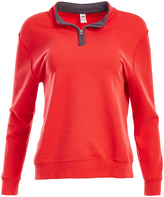 Fruit of the Loom Fiery Red & Charcoal Quarter-Zip Pullover - Women