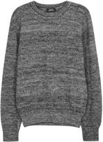 A.p.c. Lars Grey Mélange Textured-knit Wool Jumper