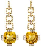 Gucci 18K Heliodor & Diamond Drop Earrings