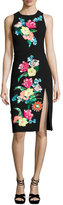 Nanette Lepore Bellefleur Sleeveless Embellished Stretch Crepe Cocktail Dress, Black