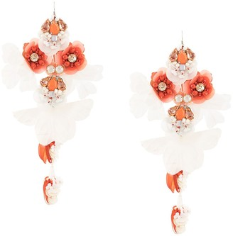 Biyan Long Flower Earrings