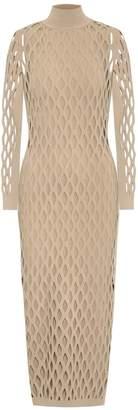 Fendi Knit turtleneck midi dress