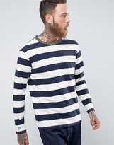 Edwin Ringer Bar Striped Long Sleeved Top