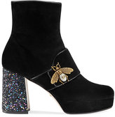 Gucci Women's Soko Suede Ankle Boots