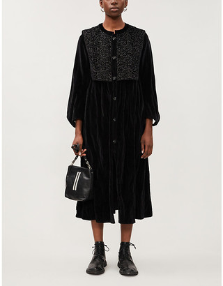 RENLI SU Embroidered velvet coat