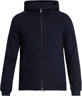 Blue Blue Japan Hooded zip-through cotton sweatshirt