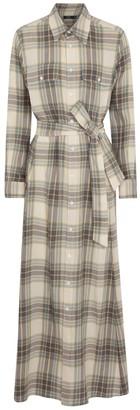 Polo Ralph Lauren Checked cotton-blend maxi dress