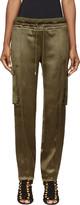 Balmain Khaki Silk Cargo Lounge Pants