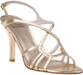 Stuart Weitzman EVENING Hiturn Evening Sandal Gold Leather