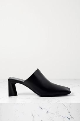 Balenciaga Moon Leather Mules - Black