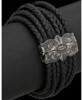 Scott Kay Fine Leathers Silver Leather Woven Bracelet.