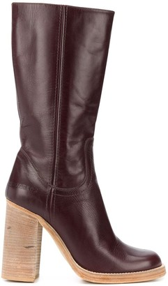 DSQUARED2 Chunky Heel Mid-Calf Boots