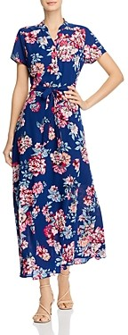 Nanette Lepore nanette Floral Tie-Waist Maxi Dress