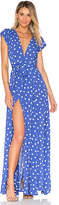 Tularosa x REVOLVE Sid Wrap Dress in Blue. - size L (also in M,S,XL,XS)
