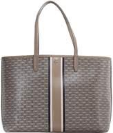 Tory Burch Gemini Link Stripe Grey Shopping Bag