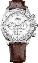 HUGO BOSS 1513175 44mm Stainless Steel Case Brown Calfskin Mineral Men's Watch