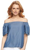 Apt. 9 Women's Chambray Off-the-Shoulder Top