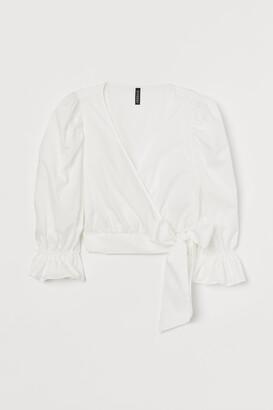 H&M Short Cotton Blouse
