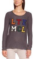 Little Marcel Women's POXFORDANTHRA Plain or unicolor Round Collar Long sleeve Sweater - -