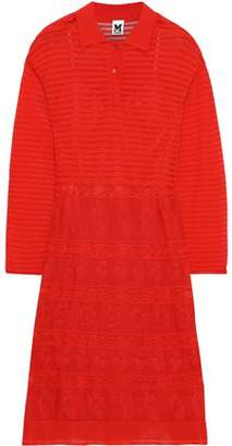 M Missoni Ribbed And Pointelle-knit Shirt Dress