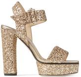 Jimmy Choo Maie 125 Glitter Platform Sandals