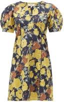 Sea Ella Floral-print Cotton Dress - Womens - Yellow Multi