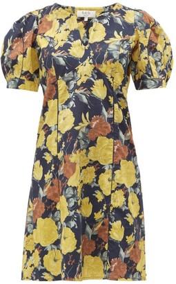 Sea Ella Floral-print Cotton Dress - Yellow Multi
