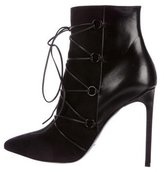 Saint Laurent Suede & Leather Lace-Up Booties