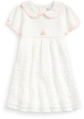 Ralph Lauren Pointelle-Skirt Sweater Dress