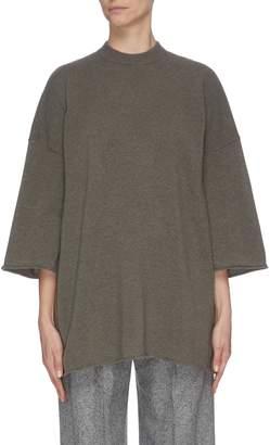 Oyuna Frayed hem rib knit top