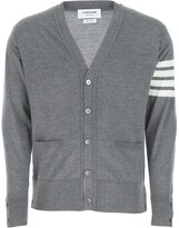 Thumbnail for your product : Thom Browne 4-Bar Stripe V-Neck Cardigan