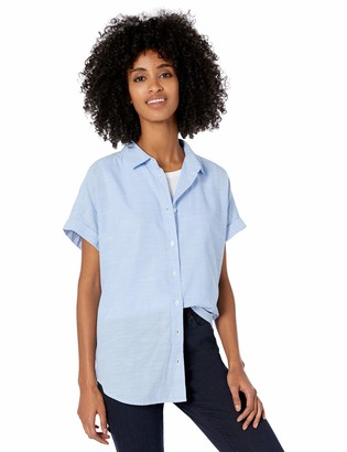 Goodthreads Amazon Brand Women's Washed Cotton Short-Sleeve Shirt