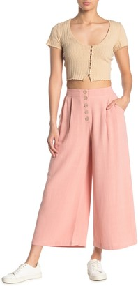 Elodie K Button Front Wide Leg Pants