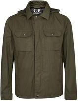 C.p. Company Goggle Olive Shell Jacket