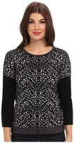 Graham & Spencer POT4098 Jacquard Print Crew L/S