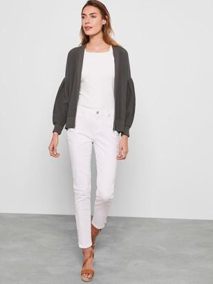 Mint Velvet Houston White Zip Crop Jeans - White