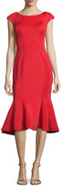 Jovani Midi Drop-Waist Cocktail Dress, Red