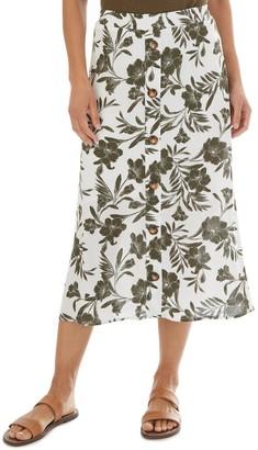 Apt. 9 Women's Button Front Midi Skirt