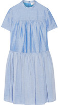 Co Tiered Ramie-blend Dress - Light blue