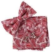Epoint Red Patterned Silk Pre-tied Bow tie, Cufflinks,Handkerchiefs Present Box Set crimson Designer bowties Pointe Crimson
